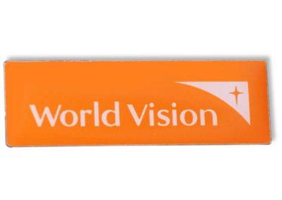 Pin bedruckt - World Vision